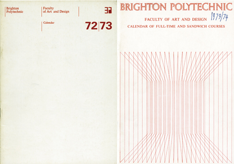 Calendars, Brighton School of Art Archive, Design Archives