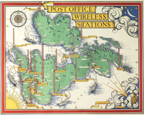 Post Office Wireless Stations, MacDonald Gill, University of Brighton Design Archives
