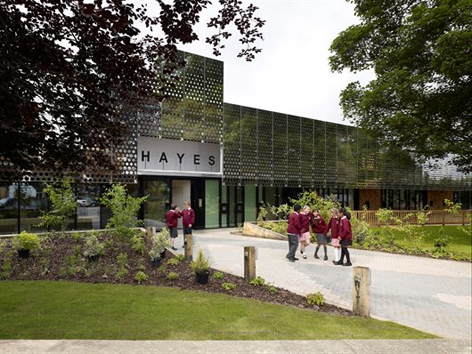Hayes School designed by University of Brighton Faculty of Arts lecturer Nick Hayhurst who won a RIBA Award