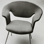 Moulded chairs designed by Eero Saarinen. Made by Knoll Associates Inc, New York, 1940s. Catalogue number: DCA-30-1-FUR-CH-EC-2. Design Council Archive / University of Brighton Design Archives.