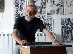 David Chapman in workshop (150 years of art - Brighton Faculty of Arts)