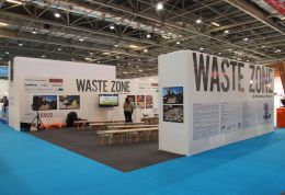 Photo of the Waste Zone stand at EcoBuild 2013