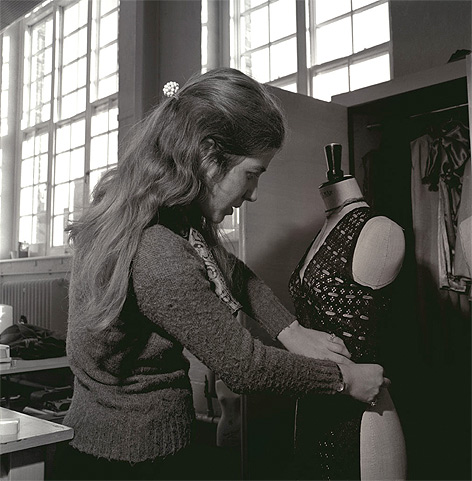 Fashion student in 1970s