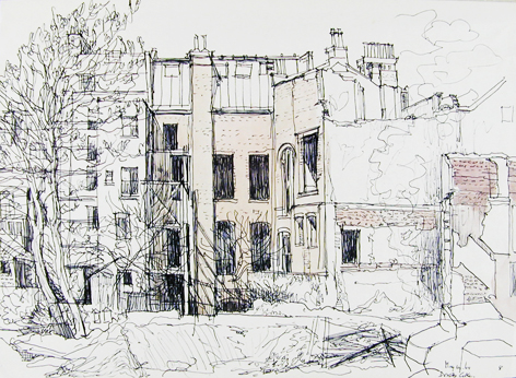 Dorothy Coke, 'The Demolition of the old College of Art, Brighton'