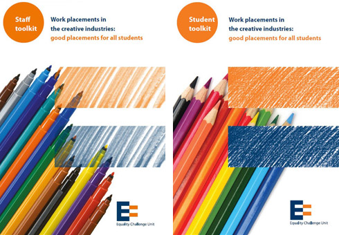 Covers of staff and student toolkit leaflets