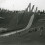 'Entertainment provided at Design '81, Helsinki: Lahti skijump site' (From a contact sheet, uncatalogued). Icograda Archive / Unviersity of Brighton Design Archives.