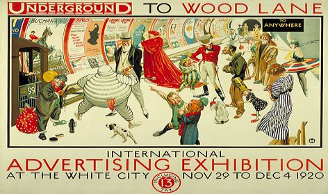 Advertising exhibition poster