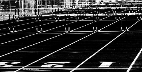 Photo: David Morris, hurdles