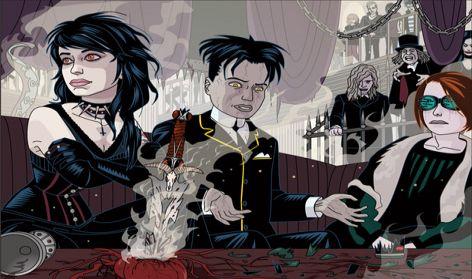 Illustration for a teen novel