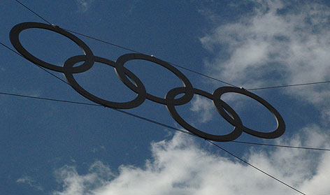 Olympic rings against the sky - Creative Campus Initiative