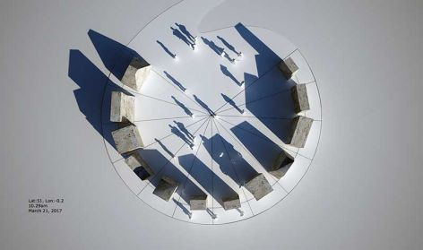 Memory stones sunpath model
