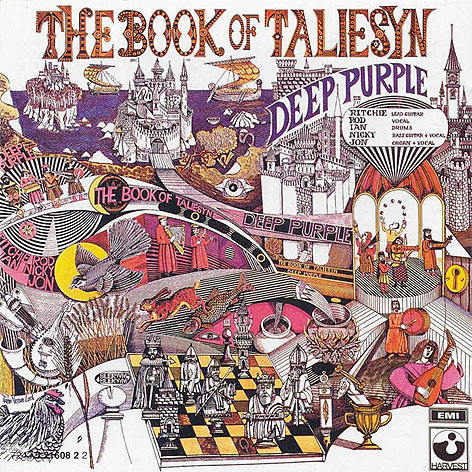 Prof John Vernon Lord design for the album The Book of Taliesyn
