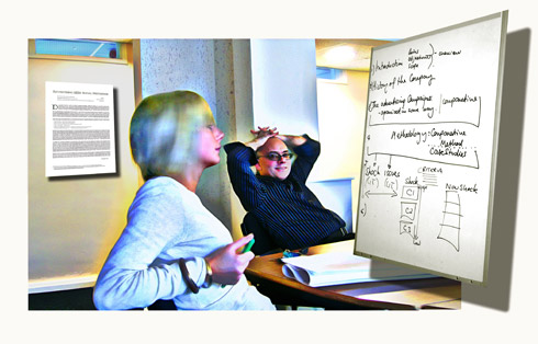 Building 'molecules of understanding' (Image © Rutherford)