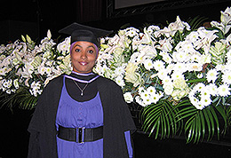 Abeer's student graduation photograph