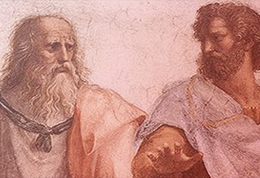 Detail of renaissance depiction of classical philosophers