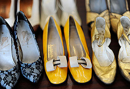 Vintage shoes from 1935 to 1966, University of Brighton design history teaching collection