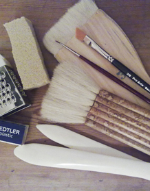 Tools used in paper conservation