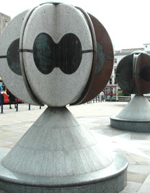 Twins, Churchill Square sculpture, Brighton, by Charlie Hooker
