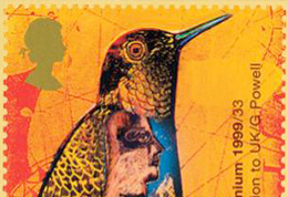 Detail of stamp design by Gary Powell, illustrator and tutor at the University of Brighton