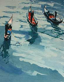 Ian Potts, gondolas, detail.