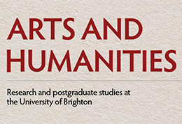 Text from front of postgraduate handbook reading Arts and Humanities