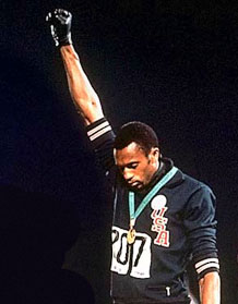 Tommie Smith salute - Cathy Bergin University of Brighton